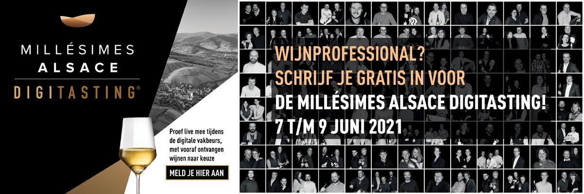 Schrijf nu in voor de digitale proeverij van Millésimes Alsace van 7 t/m 9 juni 2021